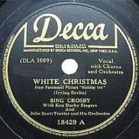 Canción 'White Christmas' interpretada por Bing Crosby