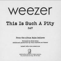 THIS IS SUCH A PITY letra WEEZER