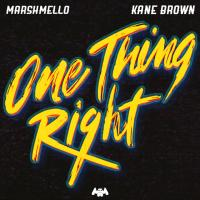 ONE THING RIGHT letra MARSHMELLO