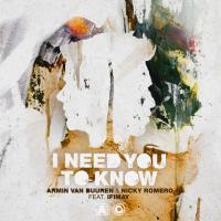 I Need You To Know de Armin van Buuren