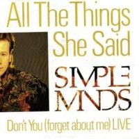 'All The Things She Said' de Simple Minds