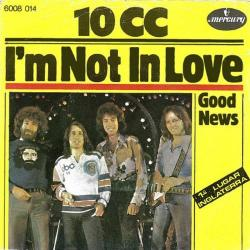 Imagen de la canción 'I'm not in love'